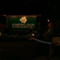 Photo taken at Kampung Daun Culture Gallery & Cafe by Stepanes D. on 7/16/2012