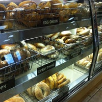 Photo taken at Town Bagel by Abby O. on 8/18/2012