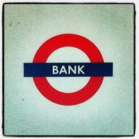 Photo taken at Bank London Underground and DLR Station by Gabriela S. on 4/24/2012