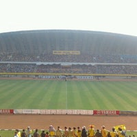 Photo taken at Stadion Gelora Sriwijaya (GSJ) by Jimmy P. on 6/16/2012