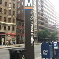 Photo taken at Farragut West Metro Station by Hallie on 6/1/2012