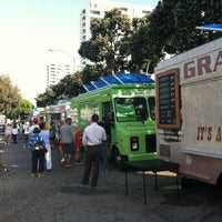 Photo taken at Santa Monica Food Truck Lot by Christelle P. on 7/11/2012