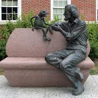 Photo taken at Jim Henson Statue by Zeebamehrin M. on 8/24/2012