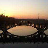 Photo taken at Pfluger Pedestrian Bridge by Jen B. on 8/21/2012