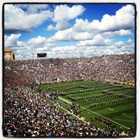 Photo taken at Notre Dame Stadium by Dan P. on 9/8/2012