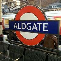 Photo taken at Aldgate London Underground Station by Chris B. on 3/9/2012