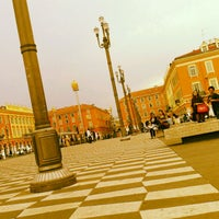 Photo taken at Place Masséna by Aurelien B. on 5/30/2012