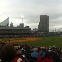 Photo taken at Louisville Slugger Field by Joel F. on 4/21/2012