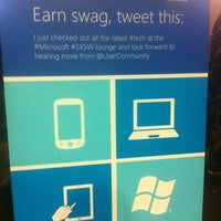 Photo taken at Microsoft Lounge - Featuring Win Phone and Windows by Carlos P. on 3/10/2012