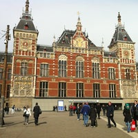 Photo taken at Amsterdam Centraal Railway Station by Mark J. on 4/18/2012