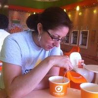 Photo taken at Orange Leaf Frozen Yogurt by Ruben I. on 5/28/2012