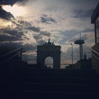 Photo taken at Metro Moncloa by Mari trini G. on 6/5/2012