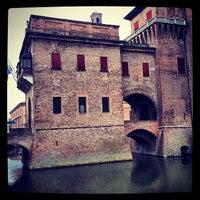 Photo taken at Castello Estense by Mirko L. on 2/29/2012