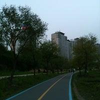 Photo taken at Han River Bicycle Path 한강 자전거도로 by So yeon P. on 4/28/2012