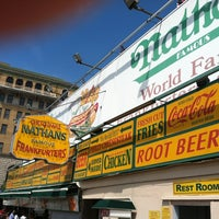 Photo taken at Nathan's Famous by Tom D. on 8/6/2012