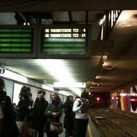 Photo taken at Montgomery (STIB / MIVB) by Letilor *. on 4/12/2012