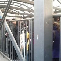 Photo taken at 地铁上地站 Subway Shangdi by Jick N. on 3/15/2012