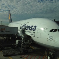 Photo taken at Lufthansa Flight LH 440 by IamG N. on 8/4/2012