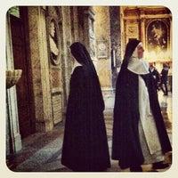 Photo taken at Basilica di Sant'Agostino in Campo Marzio by Sheriffof0 on 2/8/2012