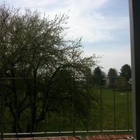 Photo taken at Lucy Scribner Library by Taylor A. on 4/16/2012