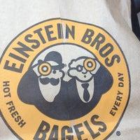 Photo taken at Einstein Bros Bagels by Brian K. on 9/13/2012