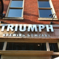 Photo taken at Triumph Brewing Company by Kate S. on 8/16/2012