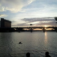Photo taken at Ann W. Richards Congress Avenue Bridge by Brian V. on 6/21/2012