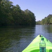 Photo taken at Rainbow River Canoe And Kayak by Jill T. on 4/12/2012