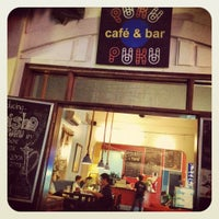 Photo taken at Puku Café & Sports Bar by Matthieu N. on 4/26/2012