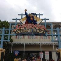 Photo taken at Superman: Ultimate Flight by joe on 9/2/2012