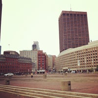 Photo taken at Boston City Hall by Yue T. on 5/30/2012