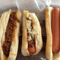 Photo taken at JJ Hot Dogs by Kathy B. on 4/5/2012