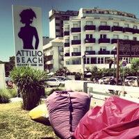 Photo taken at Attilio Beach Pleasure Club by Filippo on 6/16/2012