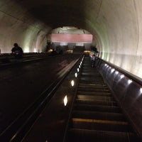 Photo taken at Tenleytown-AU Metro Station by Diana J. on 6/26/2012