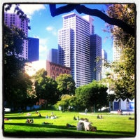 Photo taken at Yerba Buena Gardens by Michal K. on 7/18/2012