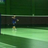 Photo taken at BJGCR Badminton Court by Kim Seng C. on 3/13/2012