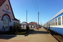 Вокзал станции Микашевичи - Железнодорожная станция