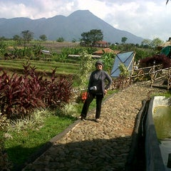 Photo taken at De'Saung Gunung Salak by Rumi K. on 9/12/2012