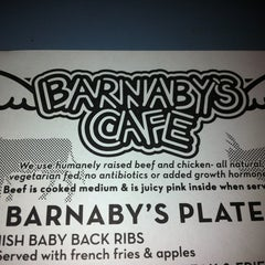 Photo taken at Barnaby's Cafe by Sarah C. on 3/31/2012