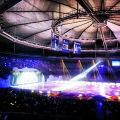 Photo taken at 올림픽체조경기장 (Olympic Gymnastics Arena) by Euy Suk K. on 8/24/2012