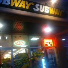 Photo taken at SUBWAY by Esha G. on 9/5/2012