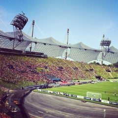Photo taken at Olympiastadion by Juba R. on 5/19/2012