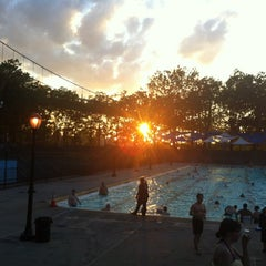 Photo taken at Astoria Park Pool by Charlene B. on 7/10/2012