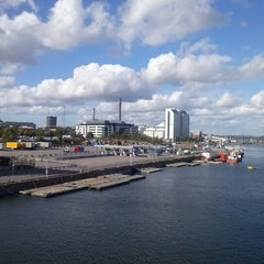 Photo taken at Frihamnsterminalen | Tallink - S:t Peter Line by Artūrs O. on 9/12/2012