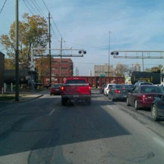Photo taken at Michigan Street Railroad Crossing by Ed S. on 11/2/2011