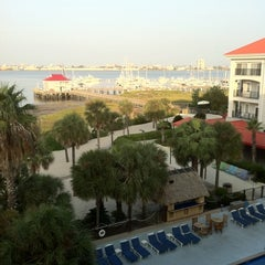 Photo taken at Charleston Harbor Resort & Marina by Cyndy M. on 9/6/2011