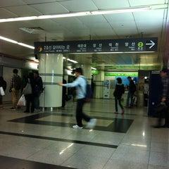Photo taken at 서면역 (Seomyeon Stn.) by Alex L. on 4/25/2012