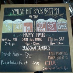 Photo taken at Rock Bottom Brewery by Tom M. on 9/4/2011