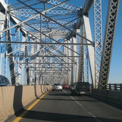 Photo taken at Outerbridge Crossing by Jake S. on 12/11/2011