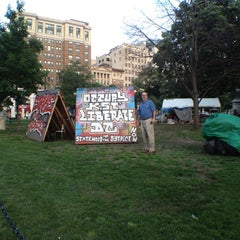 Photo taken at Occupy K St. by Monika M. on 5/17/2012